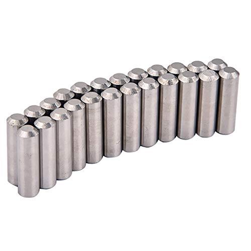 Baoblaze 24 Stück Alnico 5 Humbucker Pickup Polepiece Magnet Slug Stangen 17mm / 18mm - 18mm
