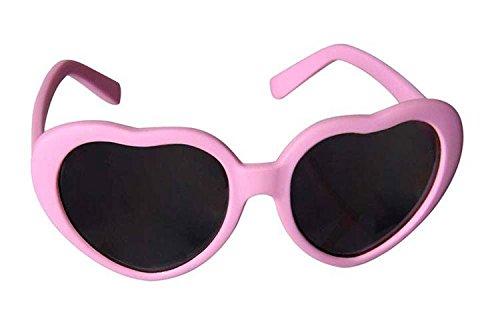 Sonnenbrille Baby pink, in Herzform