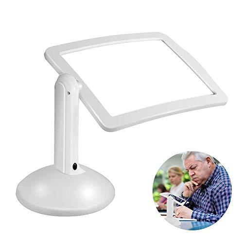 HQSF LED Lupenbrille mit Licht, Simple lamp Desktop Portable Folding Creative Magnifying Glass,3X Fach Vergrößerung, für Präzisionsarbeit, Lesen Nähen, Handwerk -