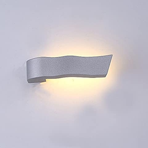 Lanfu wall lamp Warm white elegant and modern design LED wall lights ideal for bedroom, living room, stairwell and lounges 350MA / 3 W / 168 * 79.7 * 40MM / led corridor lamp in silver and glass / CE certification
