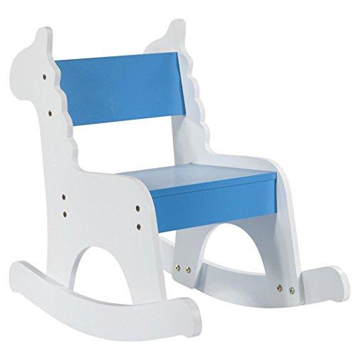 Creaciones Meng Kit Mecedora Infantil Madera Lac. Blan. Azul