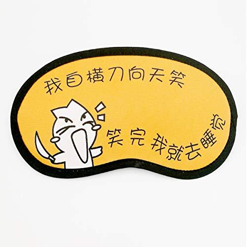 yzhk schlafmaske Schwarz Sommermänner und -frauen schlafen kalte Schutzbrillen das niedliche Karikaturkindschlaf, das den Eisbeutel-Augenschutz schattiert, gelb zum Himmellachen