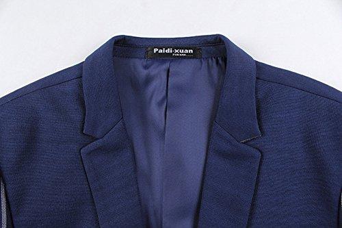 Insun Hommes Classique Loisirs Veste Veste à Rayures Blazer Tuxedo Prom Mariage Bleu
