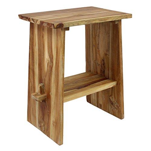 Waschtisch Holz Waschbeckenunterschrank Tisch Badmöbel Badezimmermöbel Teakholz Natur 60 cm Breite