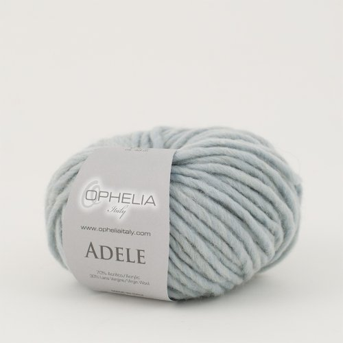 Ophelia italy adele - gomitoli lana 50g filato stoppino 70% acrilico 30% lana vergine (004 celeste polvere)