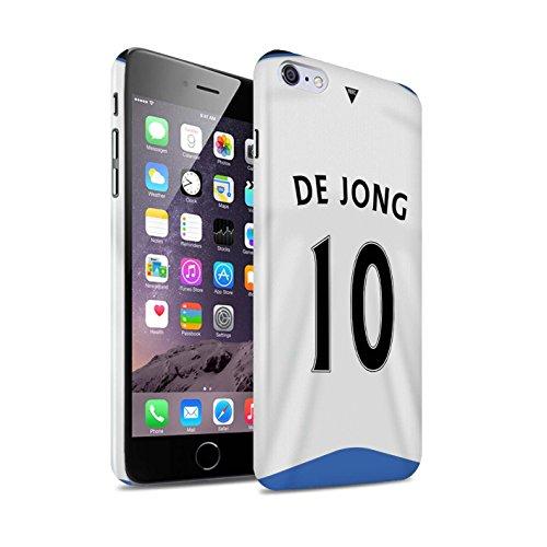 Offiziell Newcastle United FC Hülle / Glanz Snap-On Case für Apple iPhone 6S+/Plus / Pack 29pcs Muster / NUFC Trikot Home 15/16 Kollektion De Jong