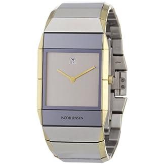 Jacob Jensen Sapphire 553 – Reloj de Caballero de Cuarzo, Correa de Acero Inoxidable Color