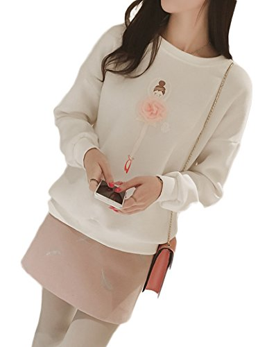 Fanvans - Sweat-shirt - Femme Blanc