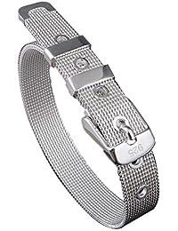 Bracelet en acier inoxydable ruban boucle ceinture pour hommes femmes 14mm  large s adapte jusqu 16befec413f