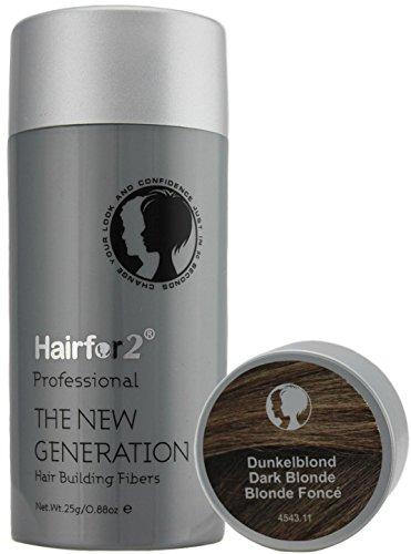 Hairfor2 Streuhaar/Hair Fibres dunkelblond, 1er Pack (1 x 25 g)
