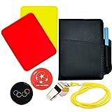 SANTOO Sport scheidsrechterset, voetbal scheidsrechterkaarten met roestvrij stalen pijpen gele kaart rode kaart scorebooks trainer scheidsrechterset voor voetbalwedstrijden