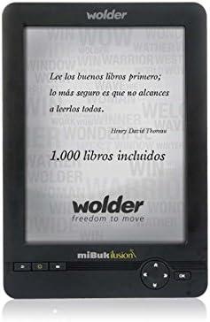 Wolder miBuk ILUSION - Libro electrónico E-Reader miBuk Ilusion 6 Retroiluminado