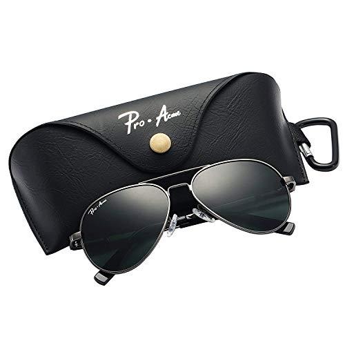 Pro Acme Jungs Kleine polarisierte Flieger-Sonnenbrille für Kinder und Jugendliche Alter 5-18 Klein Gunmetal Frame / G15 Objektiv