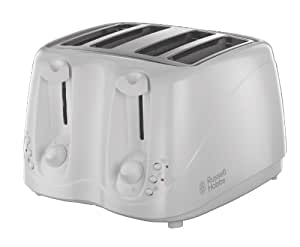 Russell Hobbs 4-Slice Compact Toaster 13899 - White and Chrome