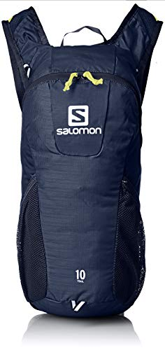 Salomon L40414300, Zaino da Corsa/Escursionismo 10 l Trail 10 Unisex Adulto, Blu Scuro/Giallo (Night Sky/Sulphur Spring)