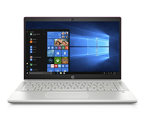 HP Pavilion 14-ce0000ns - Ordenador Portátil 14' FullHD (Intel Core i7-8550U, 16GB RAM, 128GB SSD, Nvidia GeForce MX 150, Windows 10) Color Granate - Teclado QWERTY Español