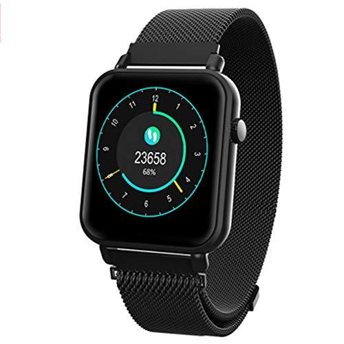 ZMMHW Smart Band Support Herzfrequenz-Blutdruck-Sauerstoffmessgerät IP68 wasserdichte Armbanduhr mit intelligentem Fitness-Tracker,Black