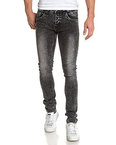 BLZ jeans - Jean homme mode noir délavé Noir