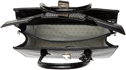 Trussardi Jeans 75b00159-1y000032, Borsa a Mano Donna, 18 x 43 x 35 cm (W x H x L) Nero