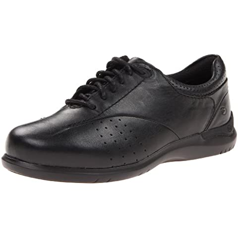 Aravon Women's Farren Oxford Shoes, Black Leather, 9.5 4E Us
