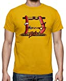 tostadora - T-Shirt Fighter Griglia - Uomo Senape 4XL
