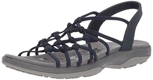 Skechers Women's Reggae Slim-Forget Knotted Web Gore Open Toe Slingback Sandal Skechers Womens Heels