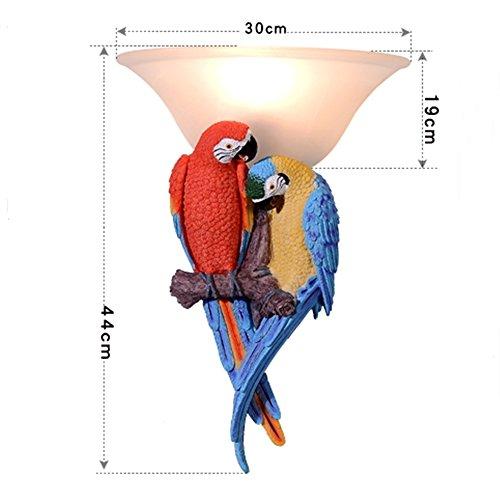 HEYUN& Amerikanische Papagei Vögel einzigen Kopf Wandleuchte Garten-Bar Café Restaurant Lichter