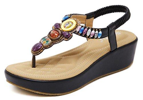 Sandali Donna con Zeppa Moda Espadrillas Eleganti Estivi Primavera 2019 Tacco Basso Peep Toe Scarpe Spiaggia Casuale Romani Piattaforma Sandals Scarpe Donna EU37/Etichetta38