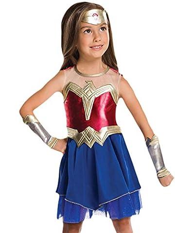 Halloweenia - Mädchen Karneval Kostüm Kleid Wonder Woman, Mehrfarbig, Größe 122-128, 7-8 Jahre (Die X-men Kostüme)