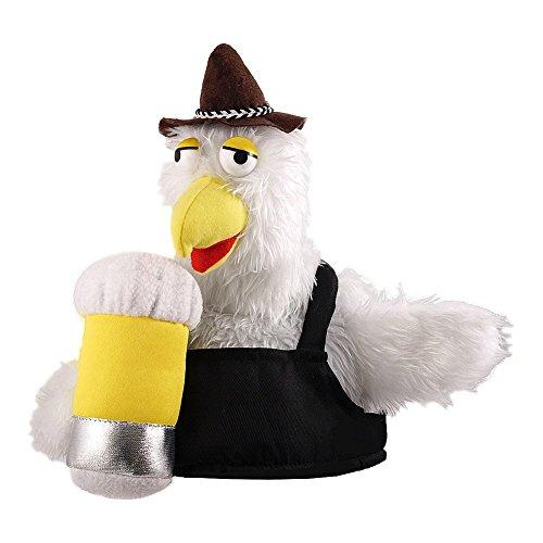 Cappello Fancy Dress Bird & Beer Novelty (Nero)