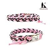 Paracord Halsband, Art: Floating Colors, Hundehalsband, wahlweise mit Gravur, Namen und weiteren Extras