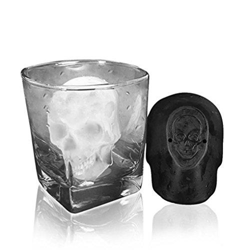 Eis Form, hunpta 3D Big Skull Ice Form Bar Party Wein Eis Cube Maker Form Tray Werkzeug Schwarz
