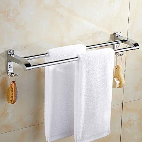 TP&DD Doppel,Sus 304 Edelstahl Anti-korrosions-rost Handtuchhalter Stange,Für Badezimmer Küche-E 80cm(31inch)