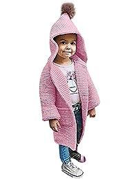 Suéter Abrigo con Capucha para Bebés Niña Niño,Gusspower Chaquetas y Abrigos Ropa de Tejer Jerséis de Invierno con Bolsillo Calidez y Moda