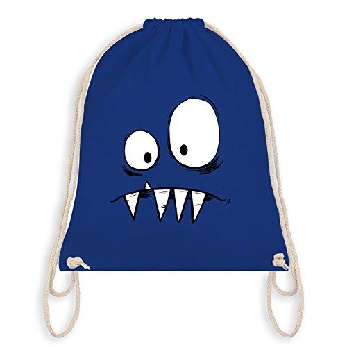 (Karneval & Fasching Kinder - Monster Gesicht Kostüm 2 - Unisize - Royalblau - WM110 - Turnbeutel & Gym Bag)