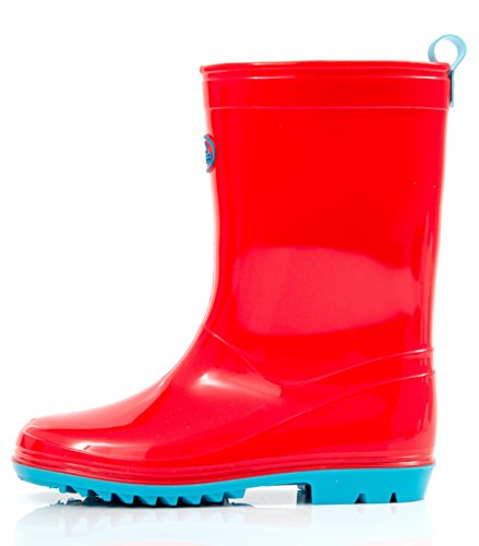 Outee Girls Boys Kids Wellies Wellingtons Lightweight(Red/Black/Blue/Pink/Purple)