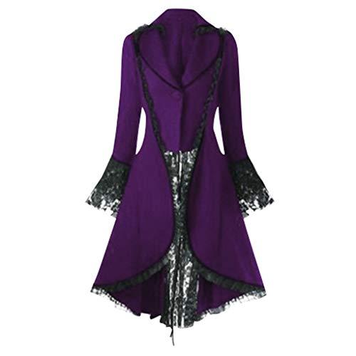 Vovotrade Steampunk Damen Mantel Eleganter Smoking-Blazer Retro Unregelmäßige Tailcoat Viktorianischen Langer Kostüm Cosplay Kostüm Smoking Uniform - Prime Rib Kostüm