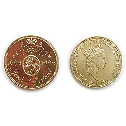 monete per collezionisti - monete circolate britannico 1994 terzo centenario della Banca d'Inghilterra due sterline £ 2 moneta / Gran Bretagna