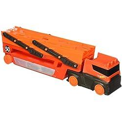 Hot Wheels Megacamión, camión de juguete transportador de coches (Mattel FTF68)
