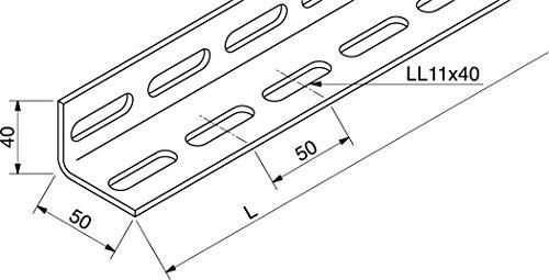 Rico Montagewinkel 16F4-4500-A L40x50 Gelocht Stiel/Profilschiene 4046847010341