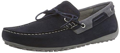 Geox U Snake I - Mocassini Uomo, colore blu (navy/dark greyc0718), taglia 42