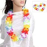 Sadkl 12 x hawaiian lei neck garlands, party bag filler, fancy dress, beach party adults or kids