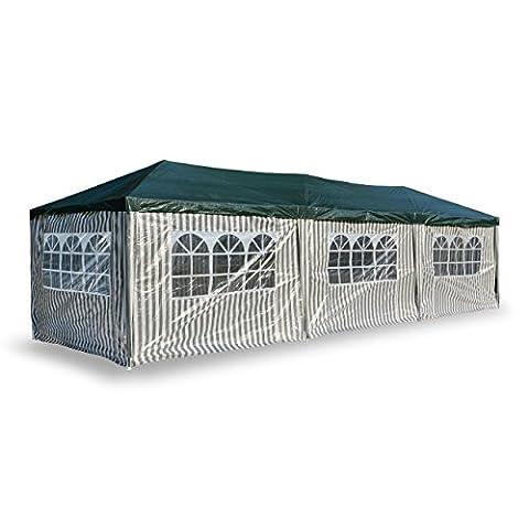 Nexos PE-Pavillon Partyzelt mit 6 Seitenteilen und 2 Eingängen für