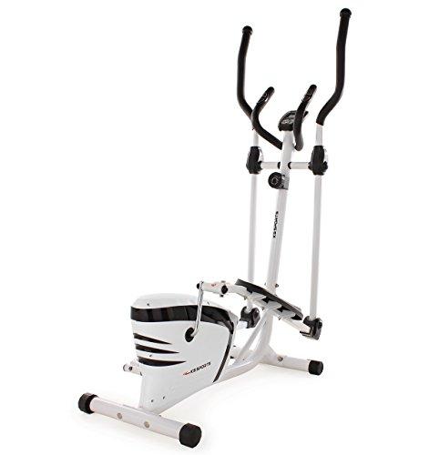 KS Cycling Fitnessgerät Crosstrainer Sports, Weiß-Schwarz, 203F