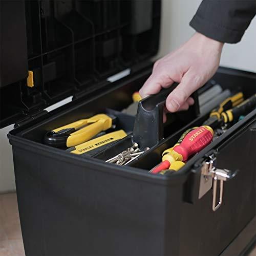 Stanley Rollende Werkstatt / Werkzeugwagen (47.3×30.2×62.7cm, zwei seperat verwendbare Werkzeugboxen, robuster Kunststoff, zwei Einheiten, Metallschließen, Organizer) 1-93-968 - 10