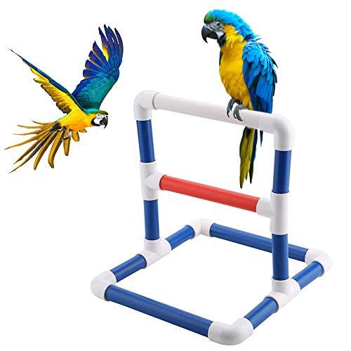 knowledgi Papagei Sitzstangen Vogel Stehen Haustier Vogel Tisch Barsch Steht PVC Vogel Stehen Plattform Vogel Dusche Bad Ständer Rack Stehen Fitnesstraining Schleifen Spielzeug Spieltisch Halter -