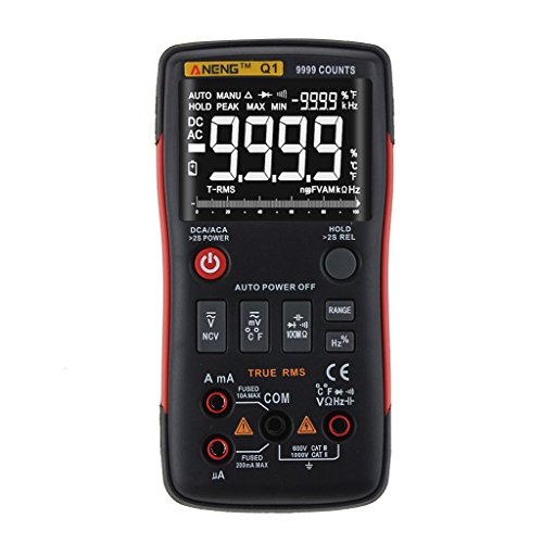 meiqiqi Q1 True-RMS Digital Multimeter Auto-Taste 9999 zählt Analog Bar Graph Tester Bar Graph Meter