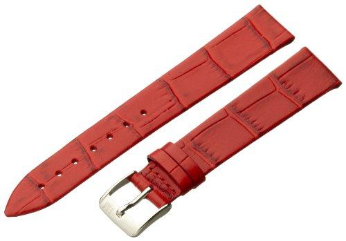 Morellato cinturino in pelle unisex thin 16 mm a01d2860656083cr16, colore rosso