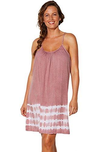 Pink Fan Shaped Strappy zurück Tie Dye Strandkleid Größe 38-40 (Tie-dye-gaze)
