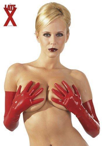LATE X 29001493020 Latex Handschuhe, rot, S, 1 Stück